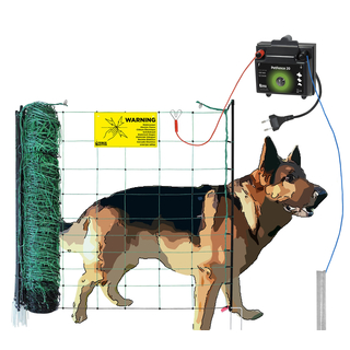50m Hunde-Set DogFence mobil Solar Elektrozaun Gerät Hunde Katzen Kleintiere