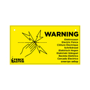 1x Warnschild WARNING Elektrozaun