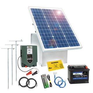 Gemeinsame Komplettset 12 V Weidezaun Stromversorgung 50 Watt Solar &GG_47