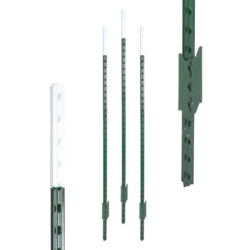 Mit 3 vormontierte Spanndrahthalter und Pfostenkappe. 5 St/ück Metallpfosten Zaunpfahl aus Metall /Ø 34 mm 1200mm lang f/ür 1,0m hohe Metall Zaunanlage aus Maschendrahtzaun in grau anthrazit RAL 7016