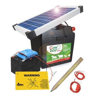 Lieblings Komplettset: 9 V Weidezaungerät 10 W Solar & 12 V Akku &OI_01