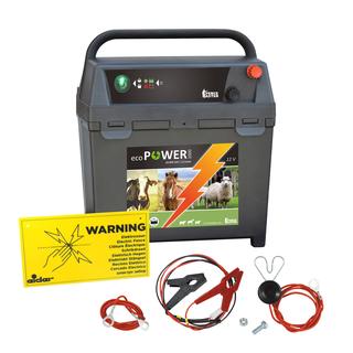 60 Ah Batterie Erdstab 9 Volt Elektrozaun-Set: Weidezaungerät Cowboy B 7000