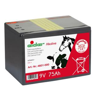75 Ah Alkaline Batterie Weidezaunbatterie Weidezaun 9 V für Weidezaungerät